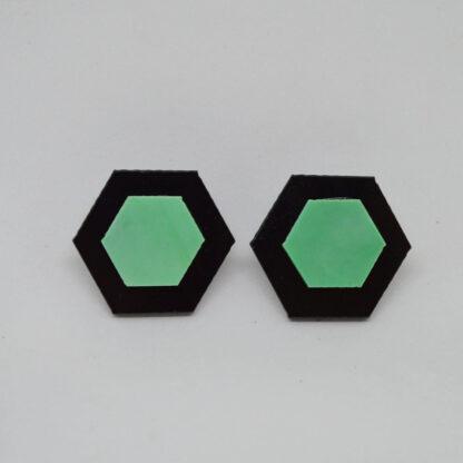 Amália preto e verde mármore