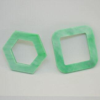 Par trocado Tina e Jones verde mármore