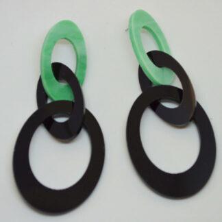 Peggy verde mármore e preto