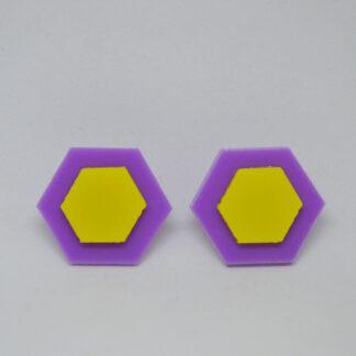 Amália lilás e amarelo