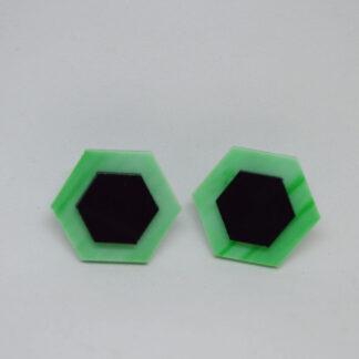 Amália verde mármore e preto