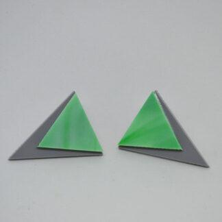Audrey diferente em cinzento e verde mármore