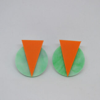Marilyn verde mármore e laranja