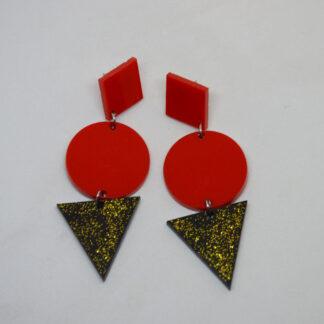 Grace vermelho e preto dourado