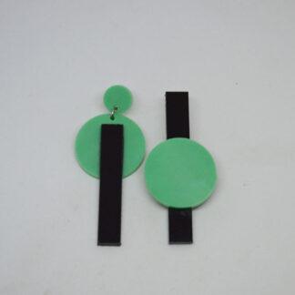 Nina verde mármore e preto
