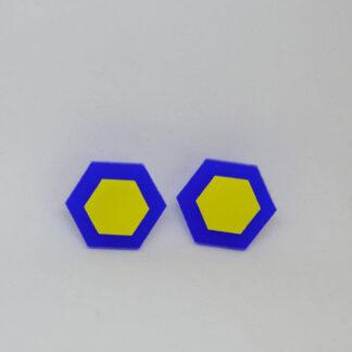 Amália azul e amarelo