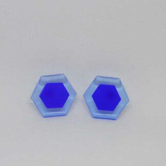 Amália azul transparente e azul escuro