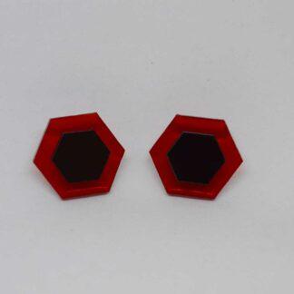 Amália vermelho transparente e preto