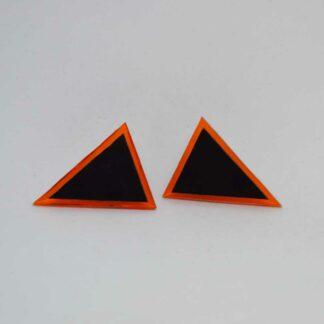 Audrey laranja transparente e preto