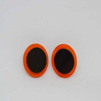 Diana laranja transparente e preto