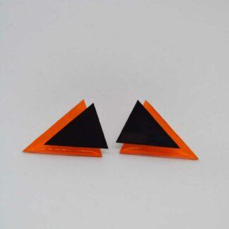 Twiggy laranja transparente e preto