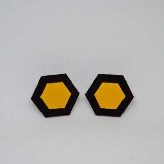 Amália preto e amarelo torrado