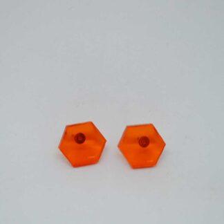 Mini Amália laranja transparente