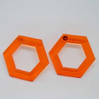 Tina laranja transparente