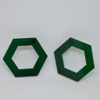 Tina verde transparente