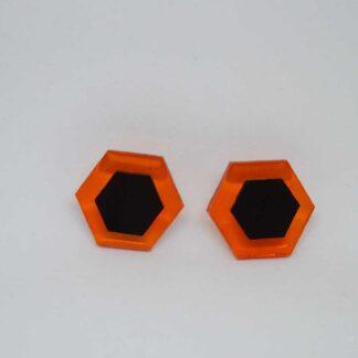 Amália laranja transparente e preto