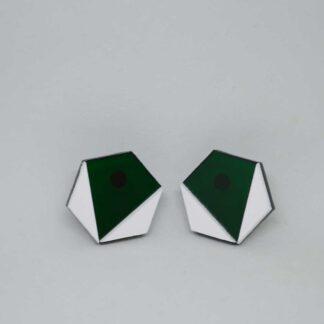 Amy verde transparente e branco