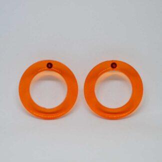 Brigitte laranja transparente