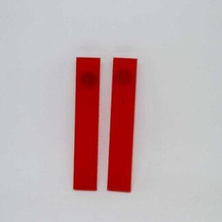 Debbie vermelho transparente