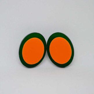 Diana verde transparente e laranja