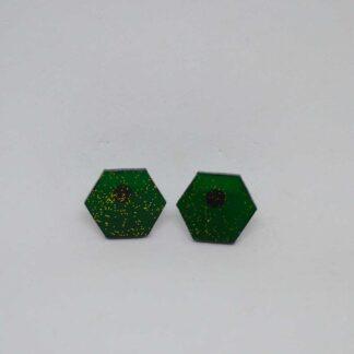 Mini Amália verde transparente com brilho